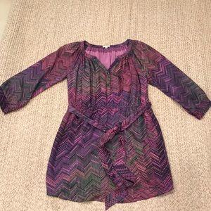 Shoshanna size 10 silk multicolor dress